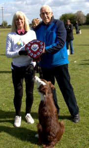 Blaze most improved puppy award presentation